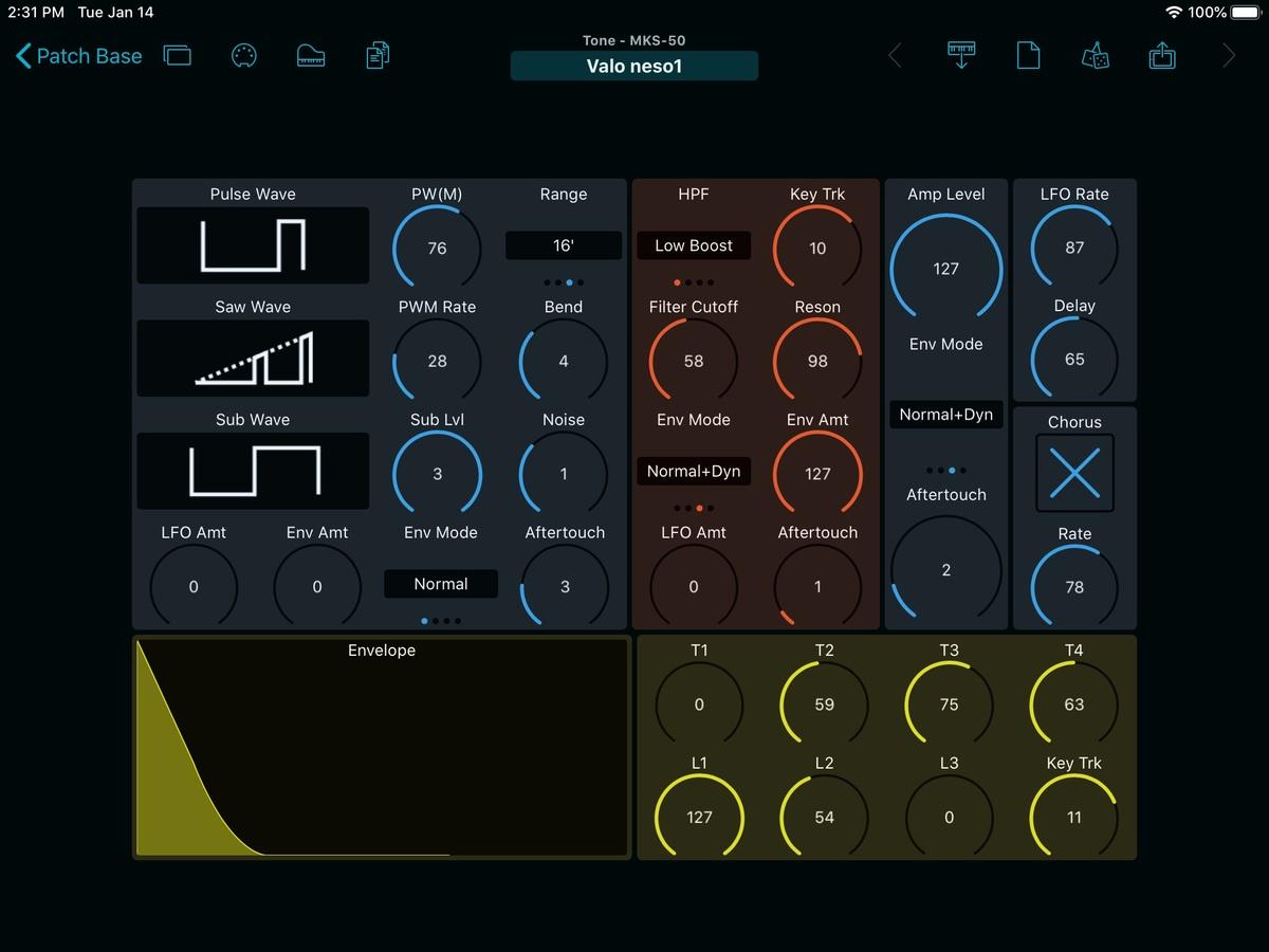 Roland MKS-50 Editor Screenshot