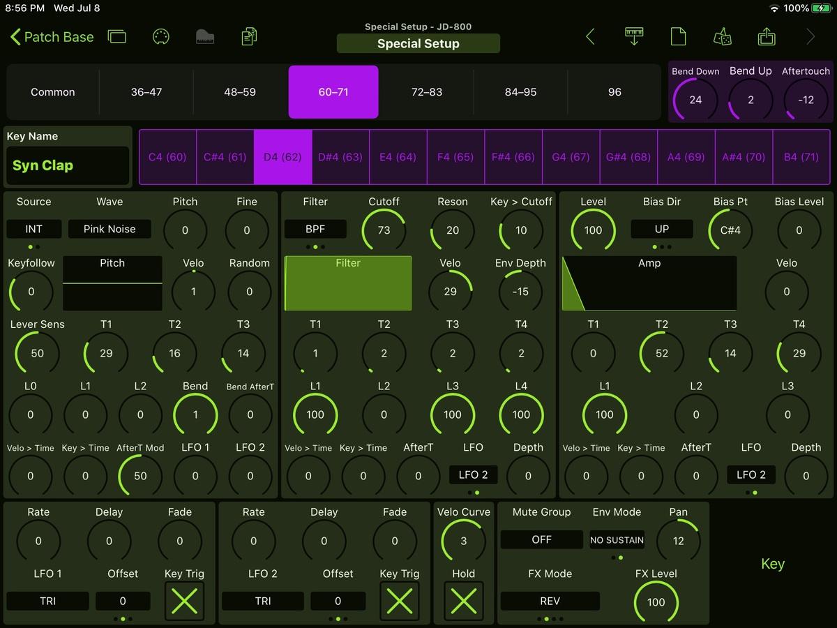 Roland JD-800 Editor Screenshot