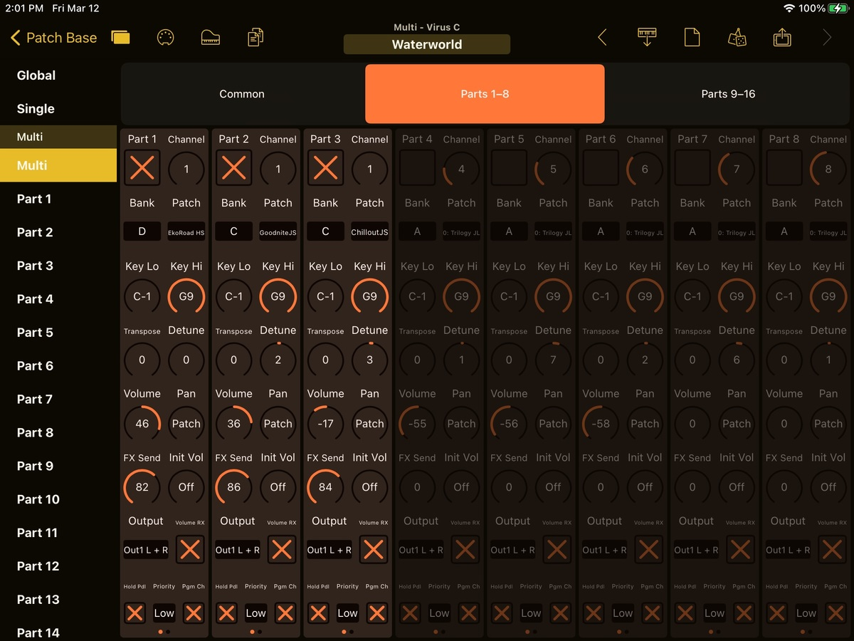 Access Virus C Editor Screenshot