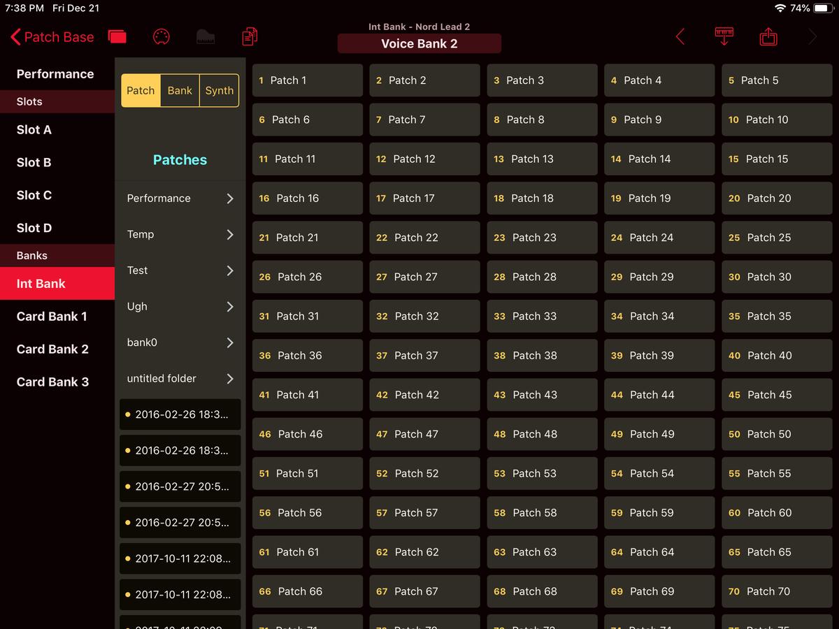 Clavia Nord Lead 2 Editor Screenshot