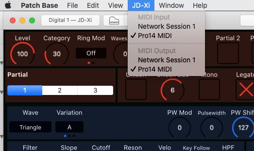 Patch Base Mac MIDI Setup