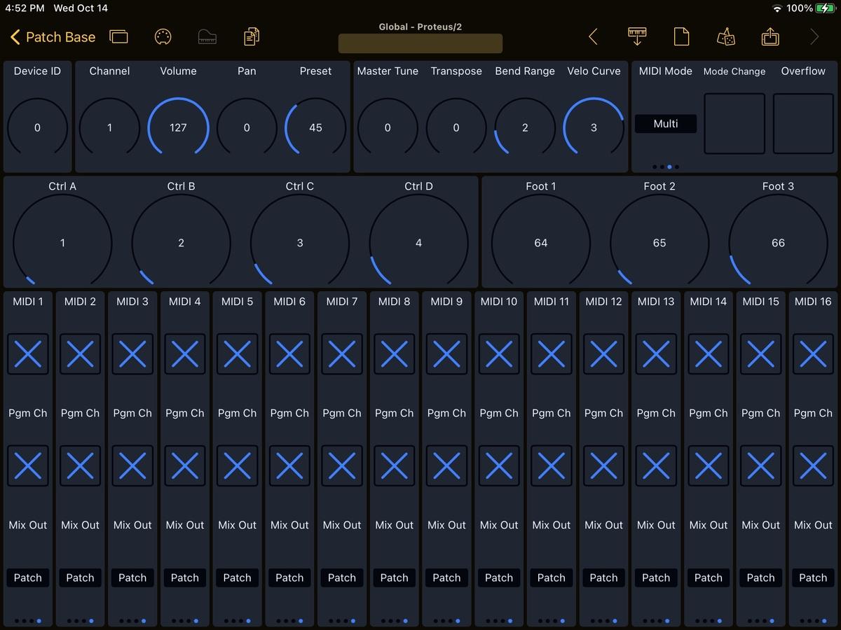 E-mu Proteus/2 Editor Screenshot