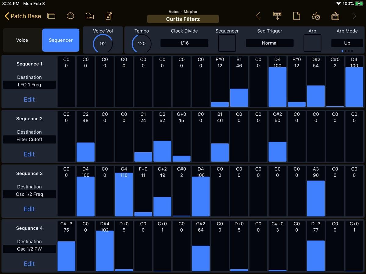 Dave Smith Instruments Mopho Editor Screenshot