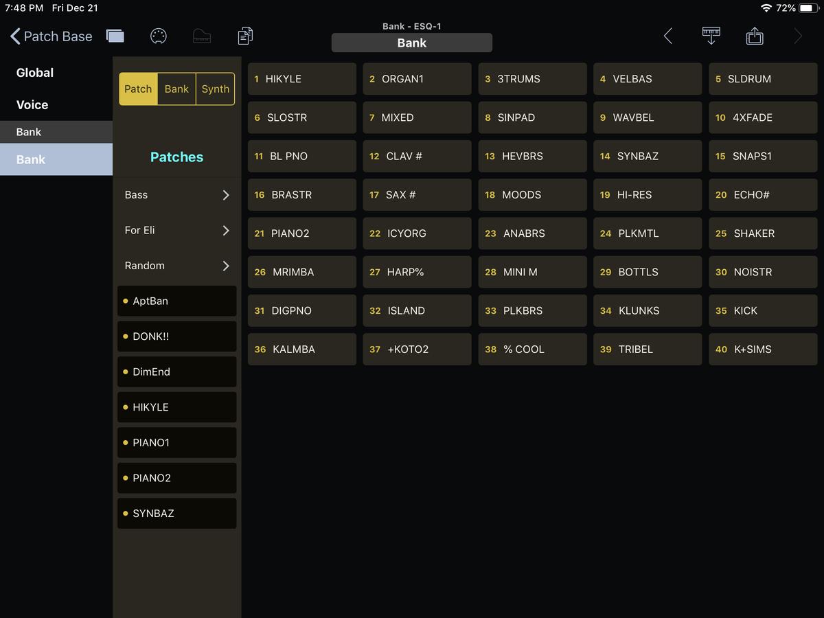 Ensoniq ESQ-1 Editor Screenshot