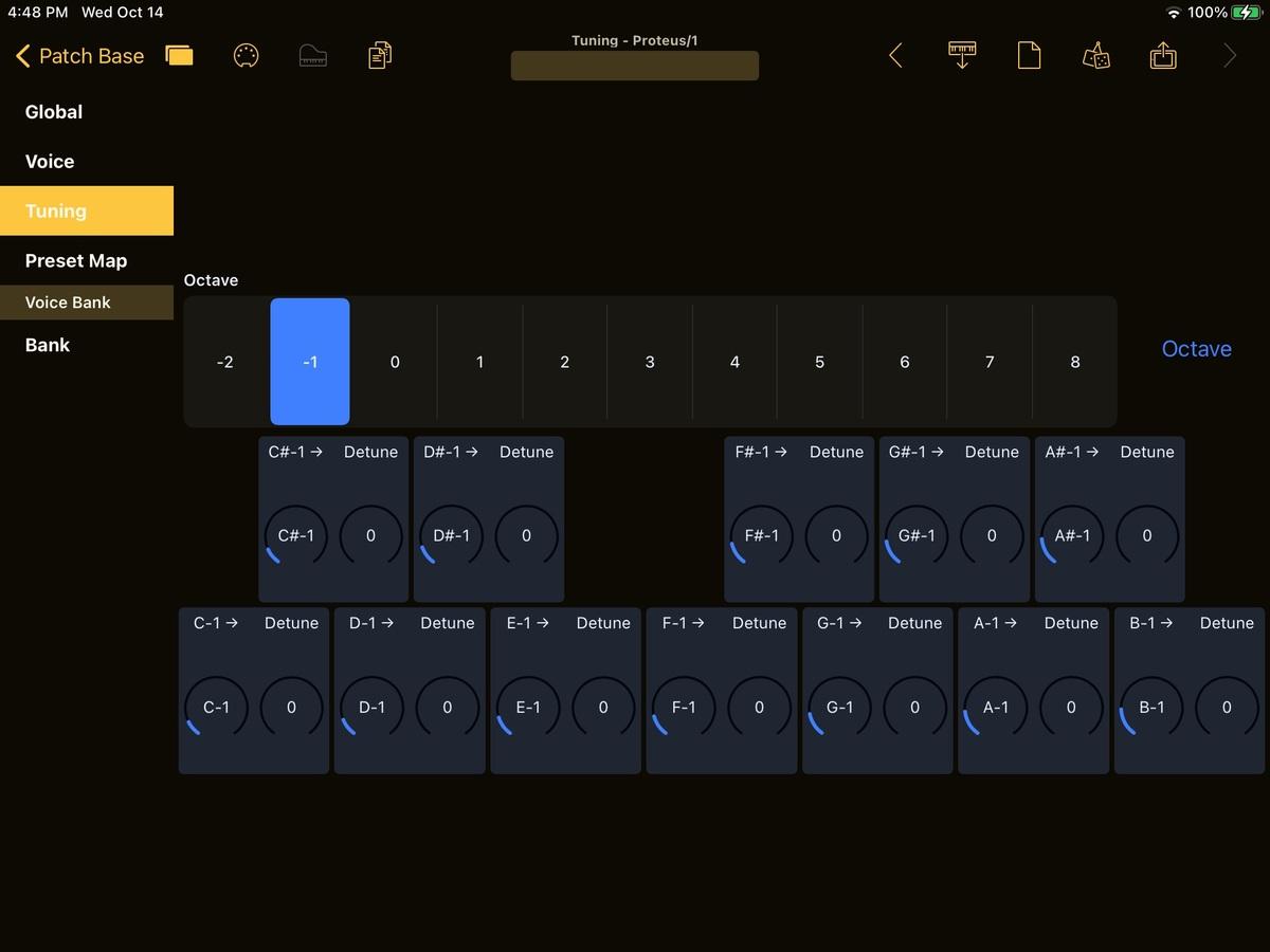 E-mu Proteus/1 Editor Screenshot