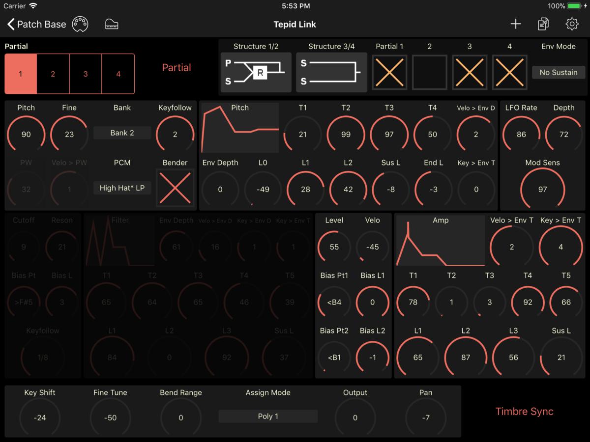 Roland D-5 Editor Screenshot