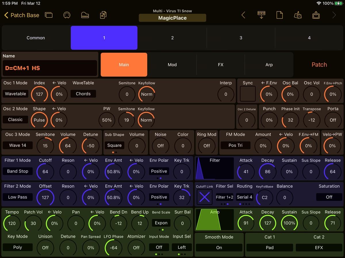 Access Virus TI Snow Editor Screenshot