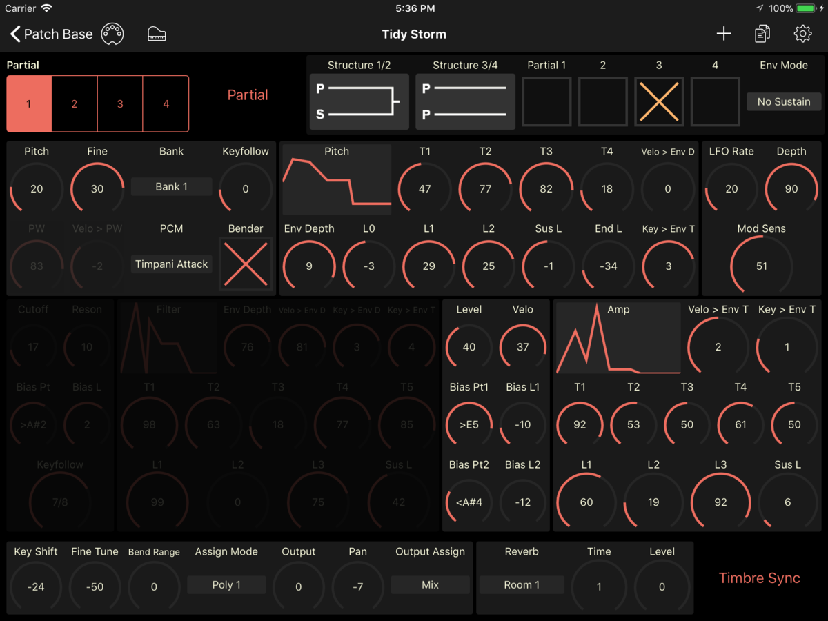 Roland D-110 Editor Screenshot