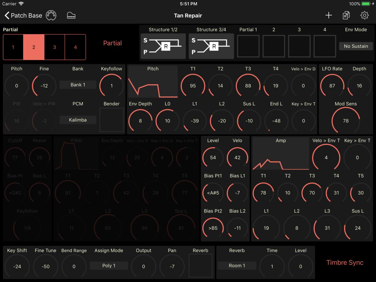 Roland D-20 Editor Screenshot