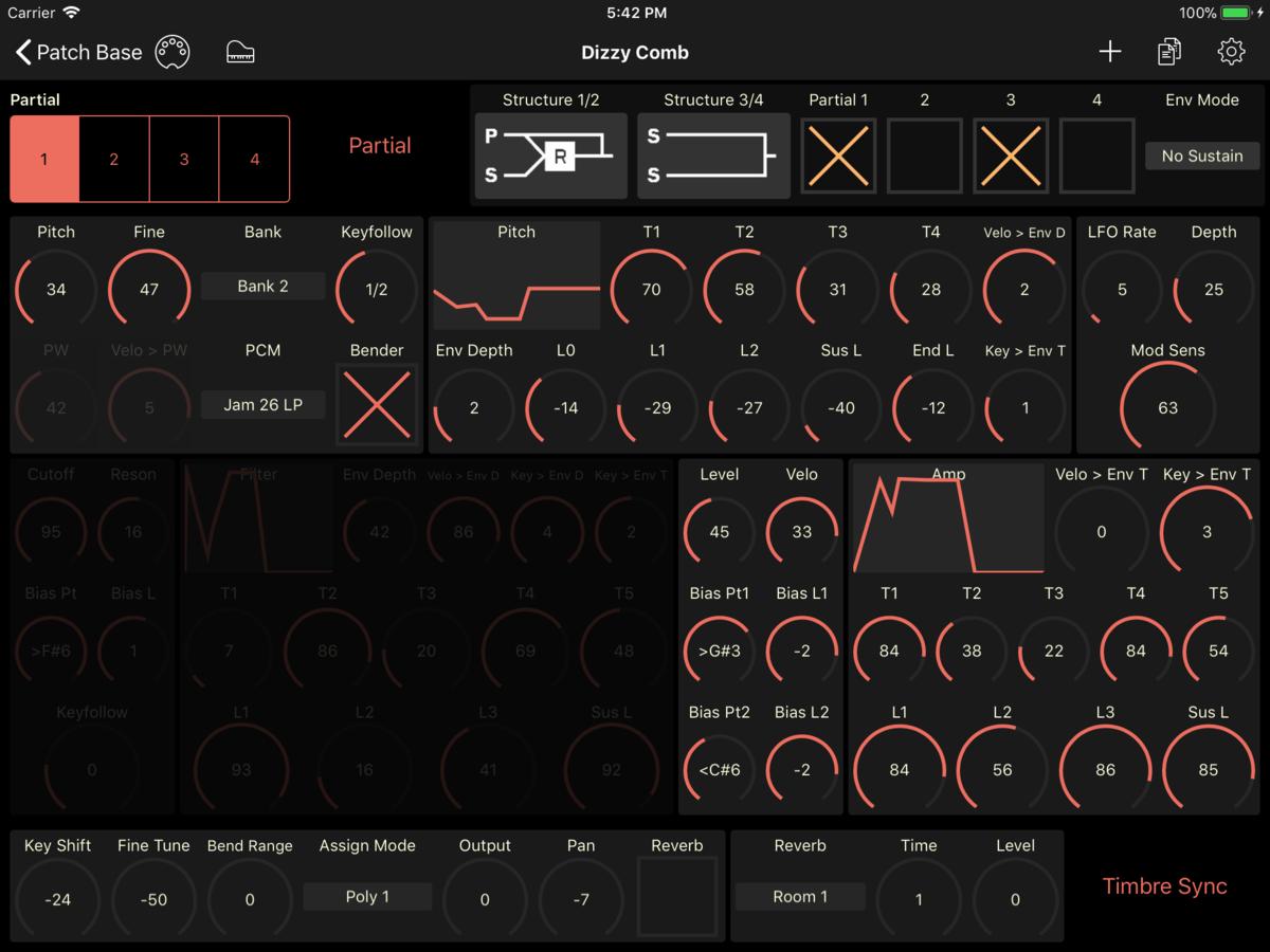 Roland D-10 Editor Screenshot