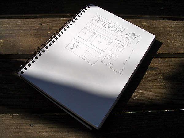 Coffeeshopped Website Sketch