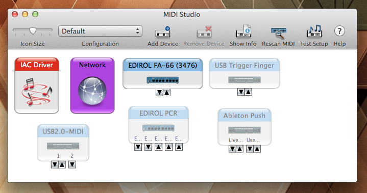 MIDI Window Screenshot
