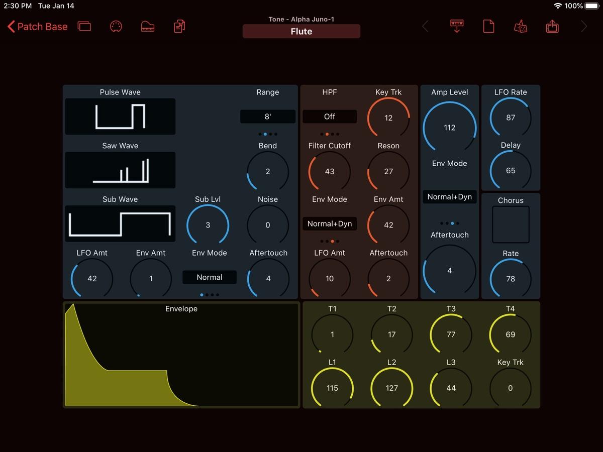 Roland Alpha Juno 1 Editor Screenshot