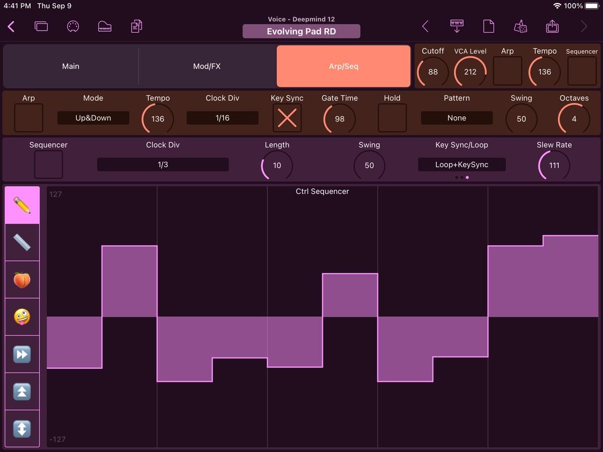 Behringer Deepmind 12 Editor Screenshot