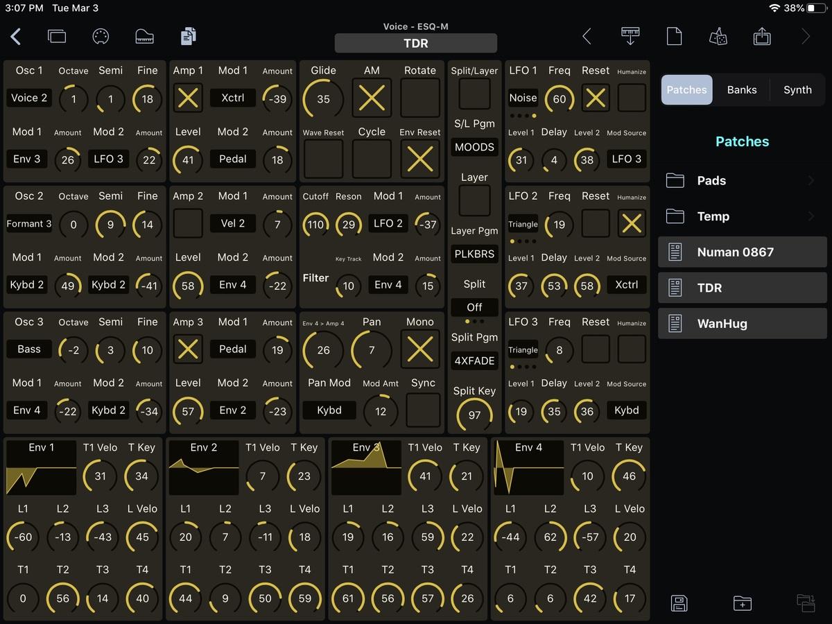 Ensoniq ESQ-M Editor Screenshot