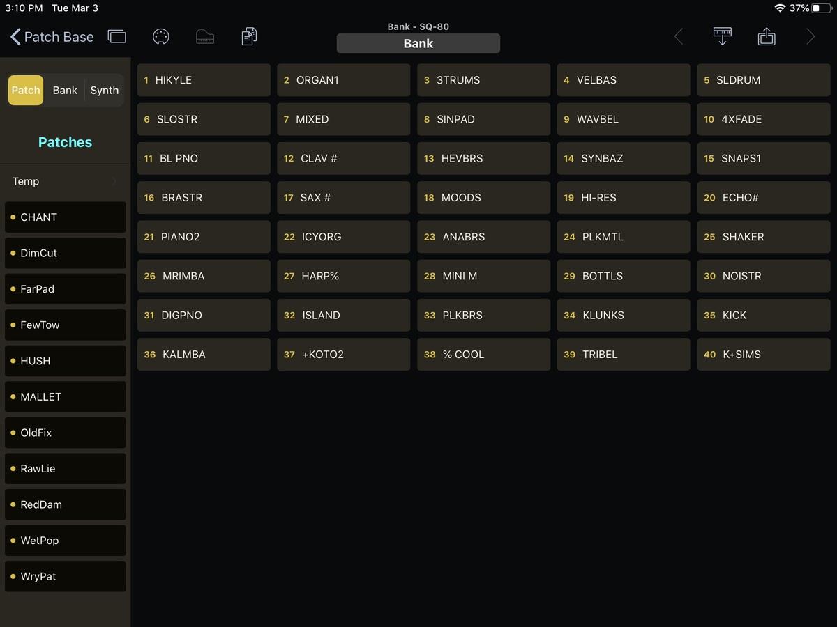 Ensoniq SQ-80 Editor Screenshot