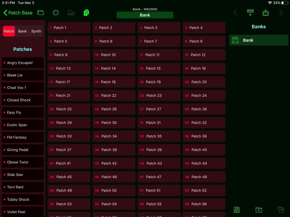 Korg MS2000 Editor Screenshot