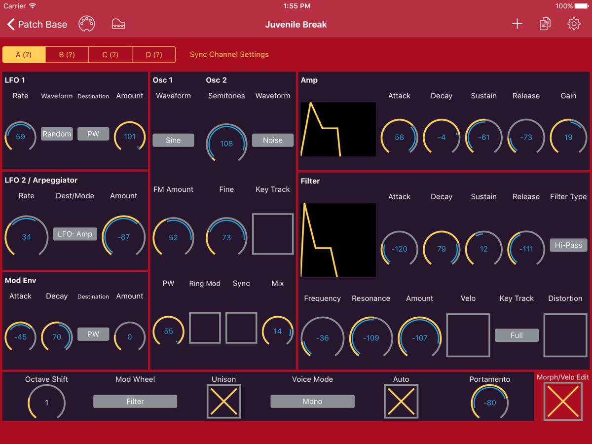Clavia Nord Lead 2X Editor Screenshot
