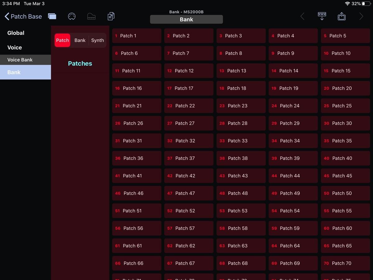 Korg MS2000B Editor Screenshot