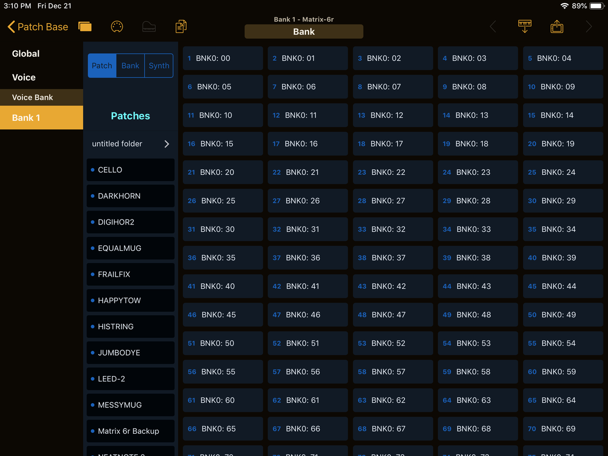 Oberheim Matrix-6R Editor Screenshot